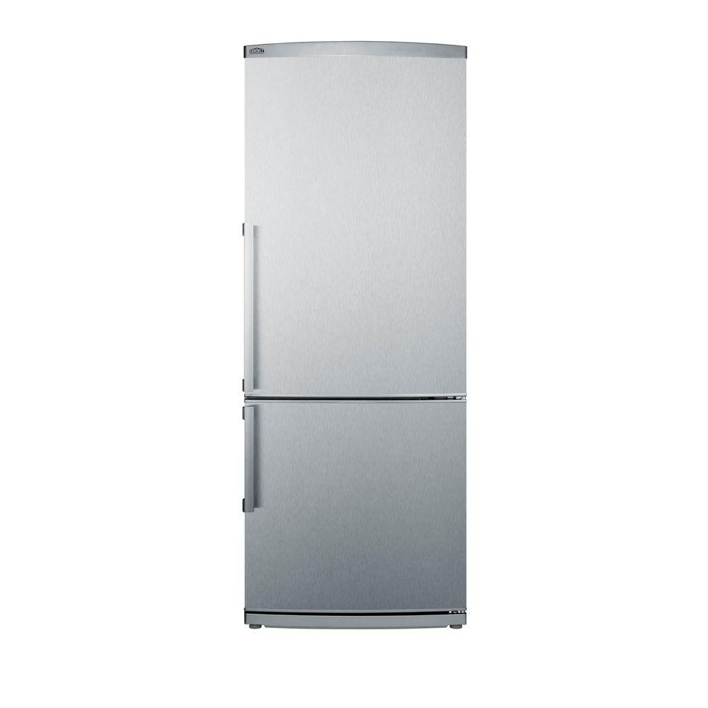 Summit Appliance 13.81 cu. ft. Bottom Freezer Refrigerator in Stainless Steel