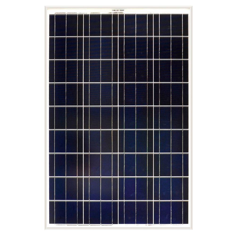 Grape Solar 100-Watt Polycrystalline Solar Panel for RV's, Boats and 12-Volt Systems