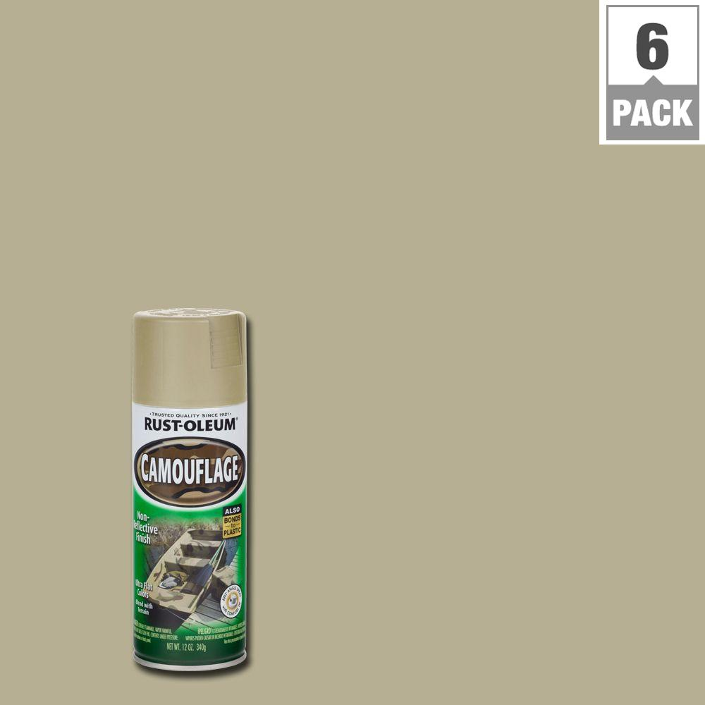 Rust-Oleum Specialty 12 oz. Sand Camouflage Spray Paint (6-Pack)
