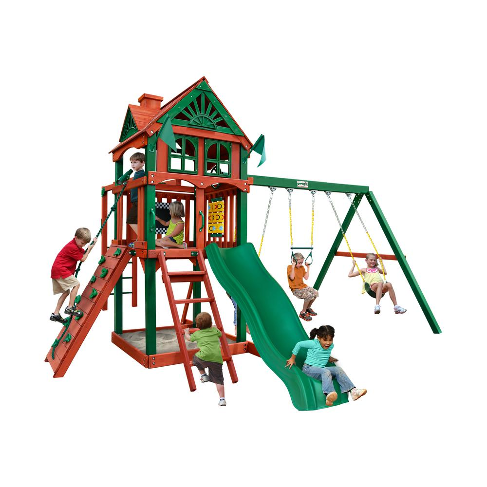 Five Star II Cedar Swing Set with Monkey Bars and Timber