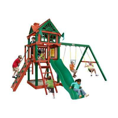Five Star II Cedar Swing Set with Monkey Bars and Timber Shield Posts
