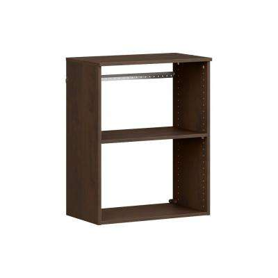 Style+ 14.59 in. D x 25.12 in. W x 31.28 in. H Chocolate Wood Closet System Hanging Tower
