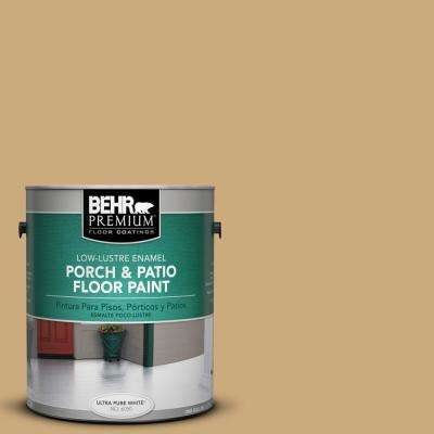 1 gal. #S300-4 Flax Straw Low-Lustre Porch and Patio Floor Paint