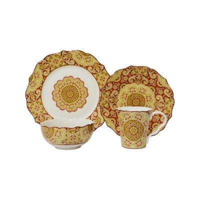 Lyria Saffron 16-Piece Dinnerware Set