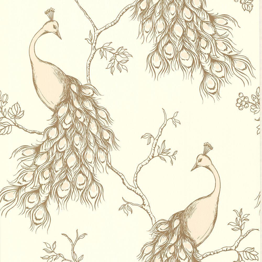 Prevost Blush Peacock Blush Wallpaper Sample