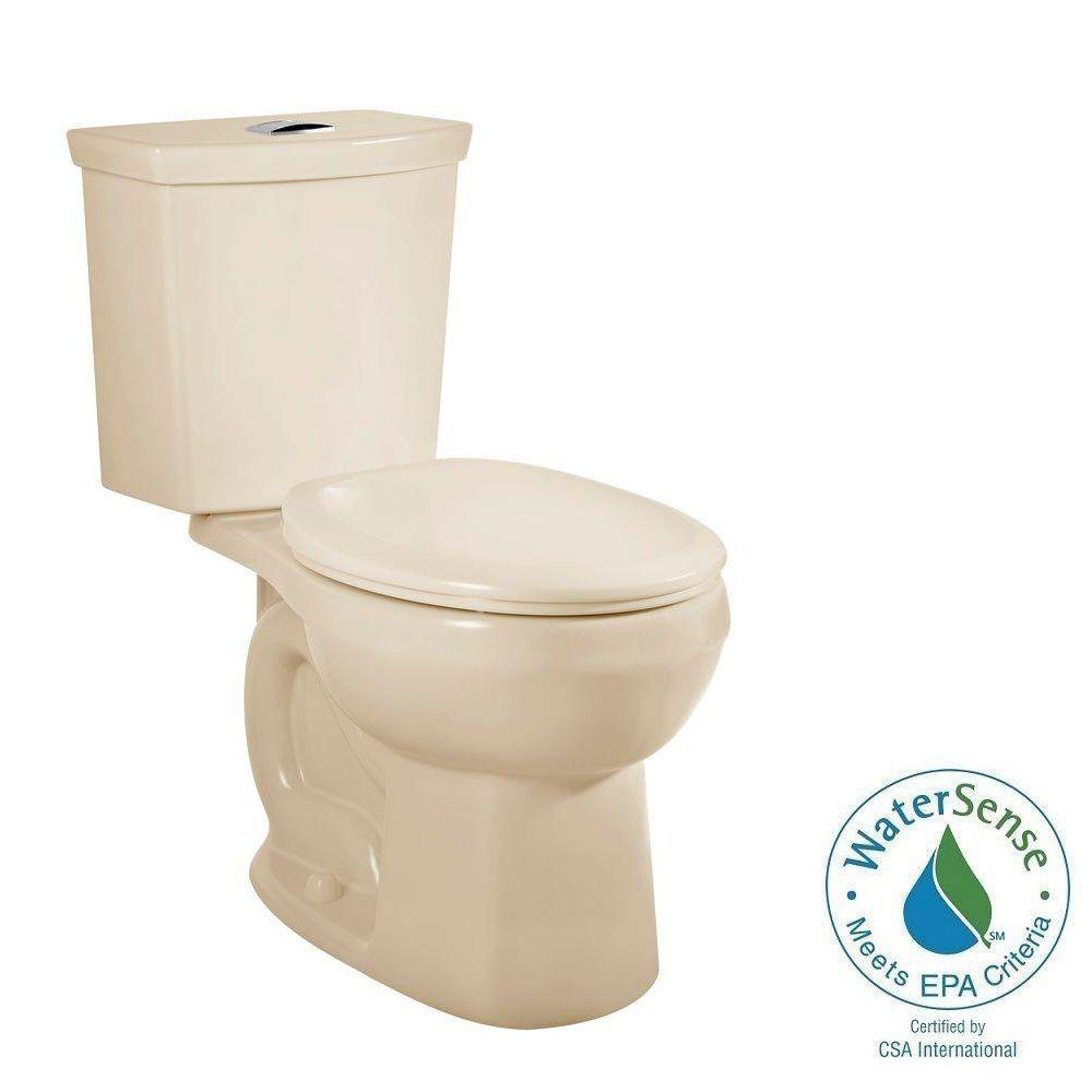 H2Option 2-piece 0.92/1.28 GPF Dual Flush Round Front Toilet in Bone
