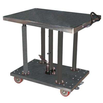 2,000 lb. Capacity 30 in. x 36 in. Partially Stainless Steel Hydraulic Post Table