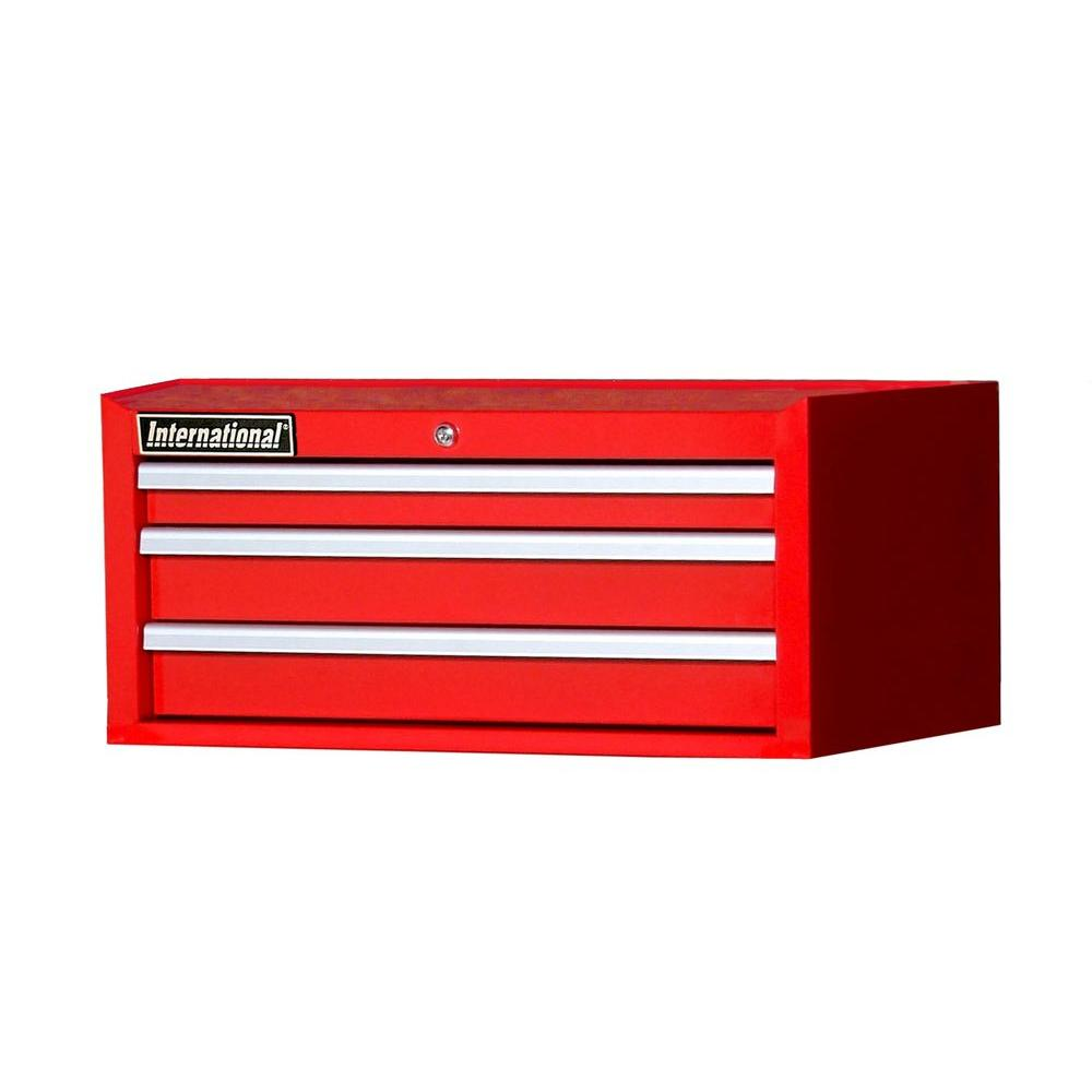 Tech Series 27 in. 3-Drawer Intermediate Chest, Red