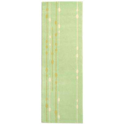 Soho Light Green 3 ft. x 12 ft. Runner Rug