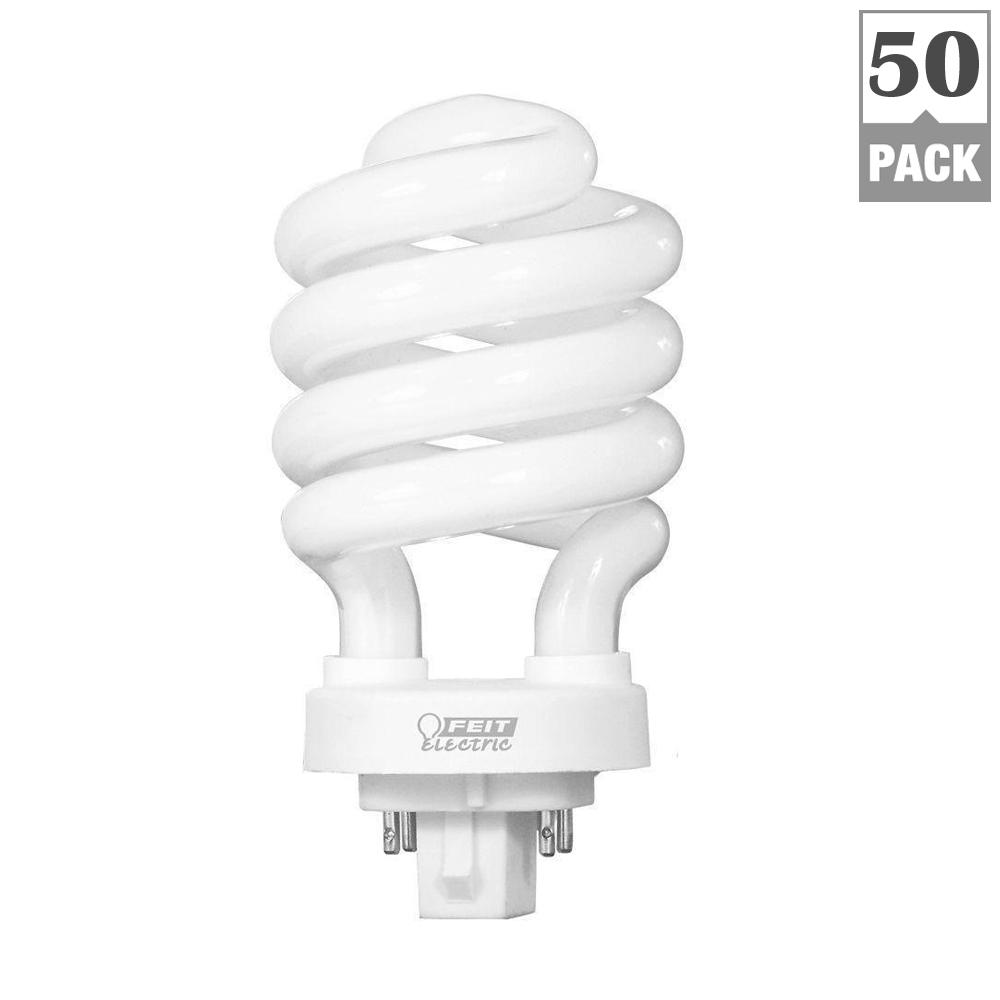 100-Watt Equivalent Soft White (2700K) Spiral 4-Pin CFL Light Bulb (50-Pack)