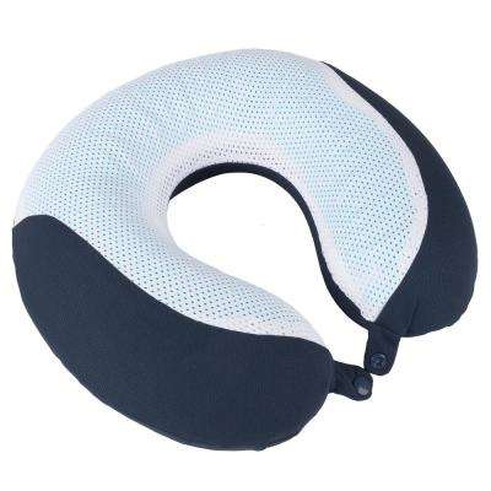 Navy Neck Gel Memory Foam Neck Travel Pillow