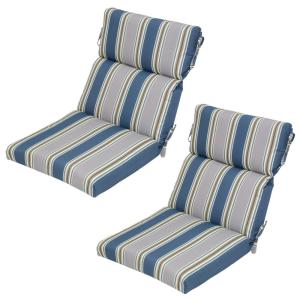 charleston stripe outdoor dining chair cushion 2pack