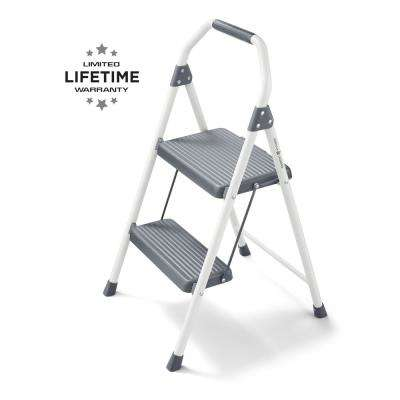 2-Step Compact Steel Step Stool, 225 lbs. Load Capacity Type II Duty Rating