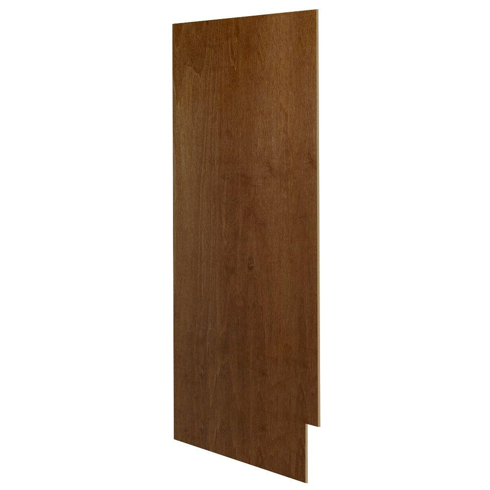 Hampton Bay 0.25x30x12 in. Matching Wall Cabinet End Panel in Cognac