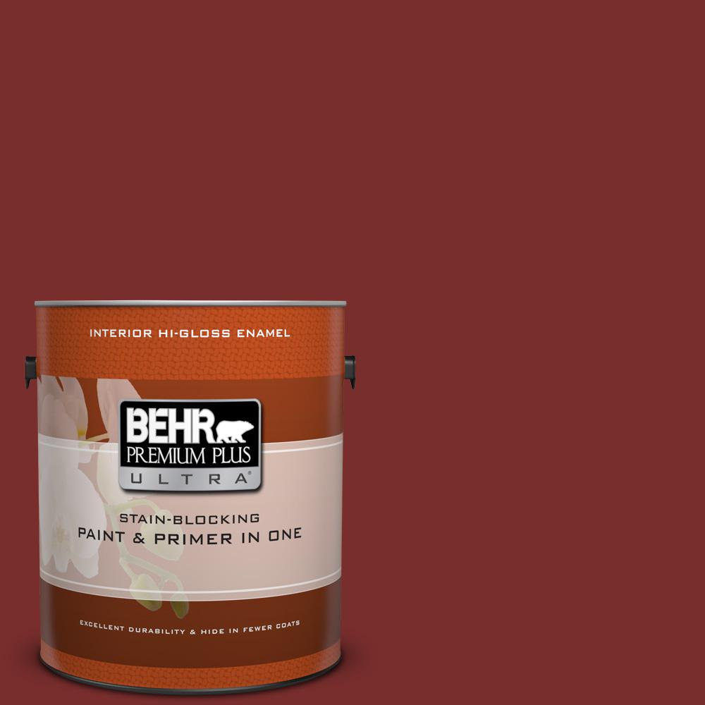 Ppu2 02 Red Pepper Hi Gloss Enamel Interior Paint And Primer In One