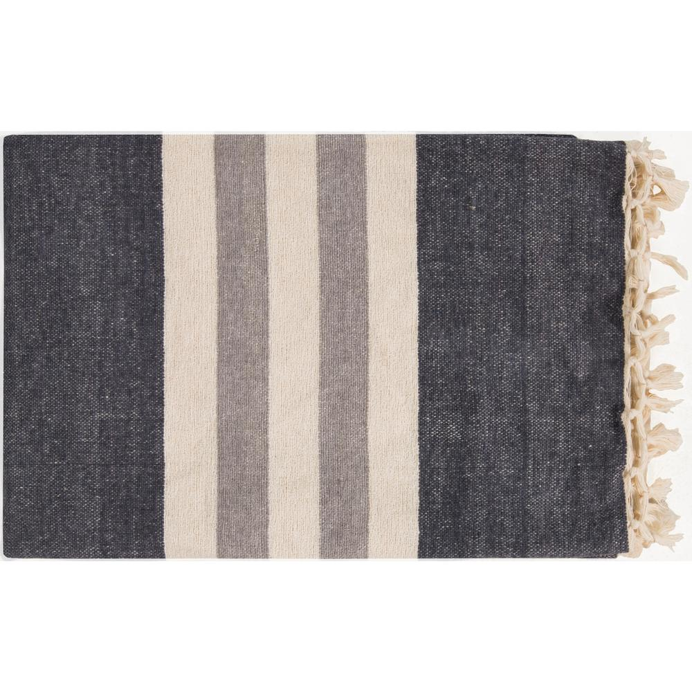 Mack Charcoal Cotton Throw