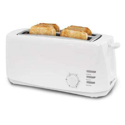 Cuisine 4 Slice white Long Slot Cool Touch Toaster