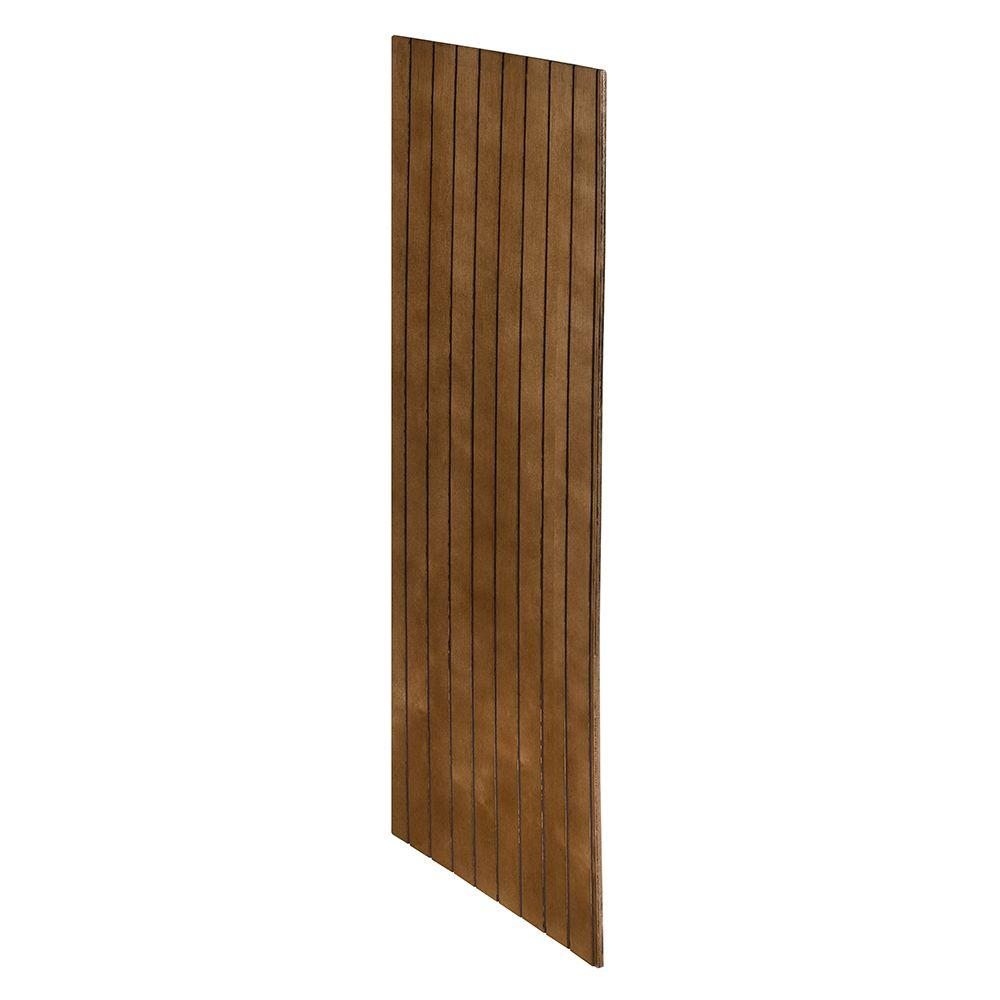 Home Decorators Collection Huntington Assembled 11.25 x 30 x .25 in. Wall V-Groove Skin in Chocolate Glaze
