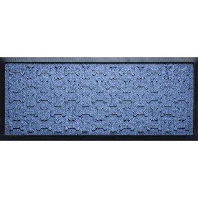 Navy 15 in. x 36 in. x 1/2 in. Dog Treats Boot Tray