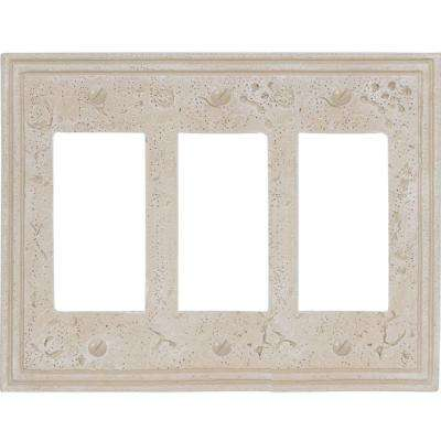Texture Stone 3 Decora Wall Plate - Almond