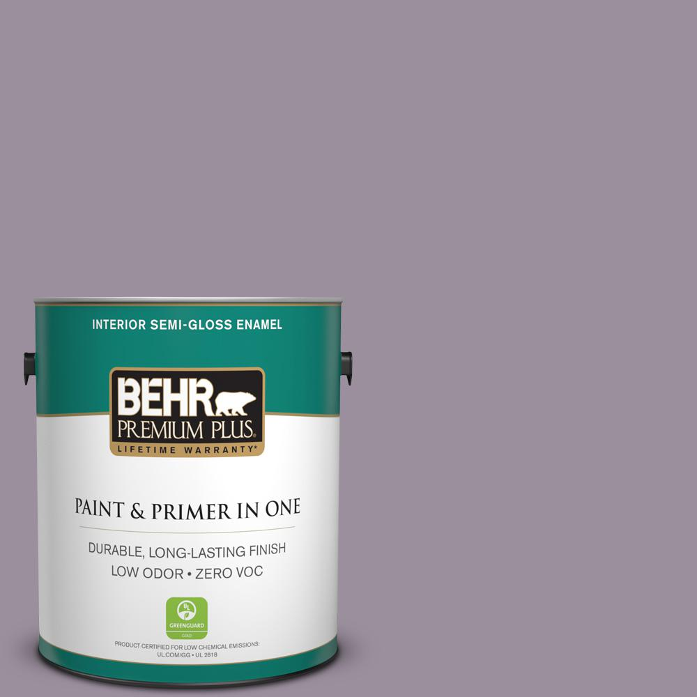 1 gal. #PPU16-13 Duchess Lilac Zero VOC Semi-Gloss Enamel Interior Paint