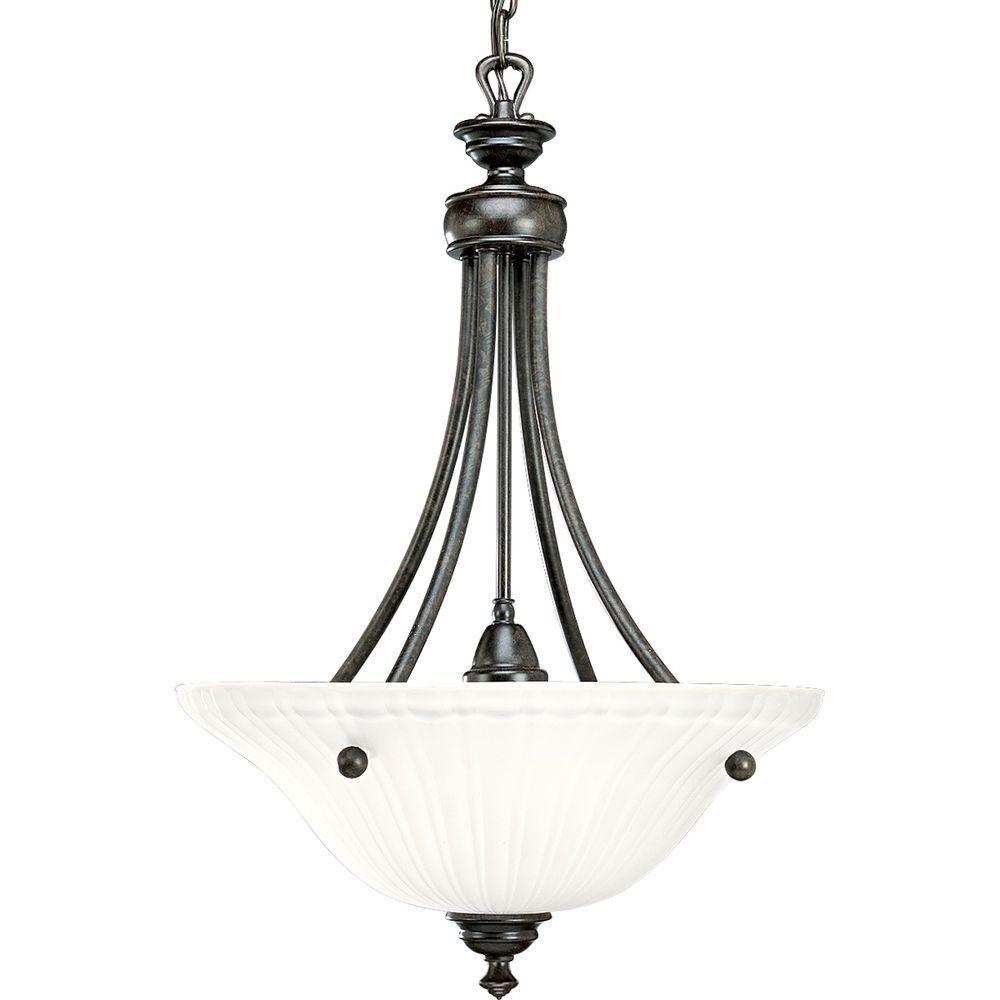Foyer Pendant Lighting Bronze : Progress lighting renovations collection light forged