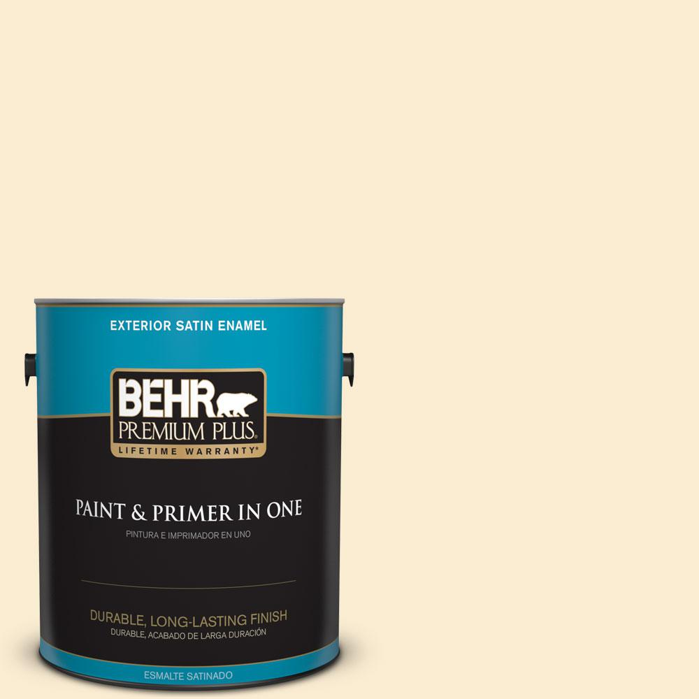 1-gal. #OR-W4 Nice Cream Satin Enamel Exterior Paint