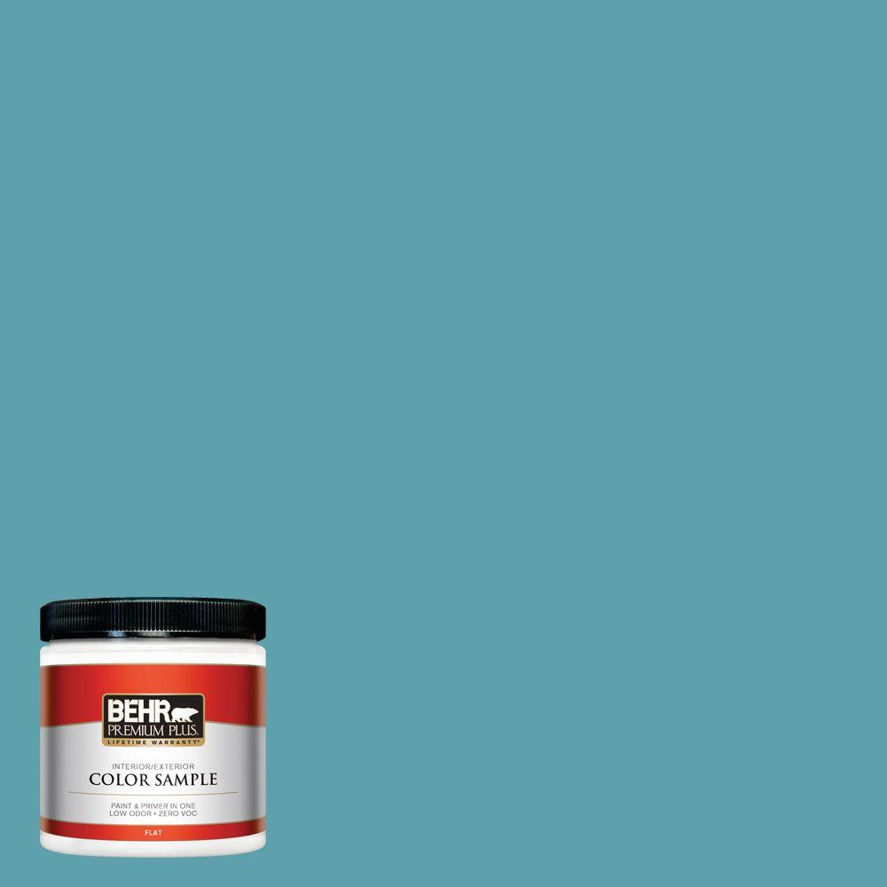 8 oz. #BIC-53 Turquoise Interior/Exterior Paint Sample