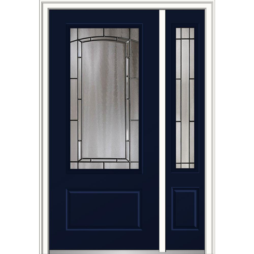 MMI Door 50 in. x 80 in. Solstice Left-Hand 3/4-Lite 1-Panel Classic ...