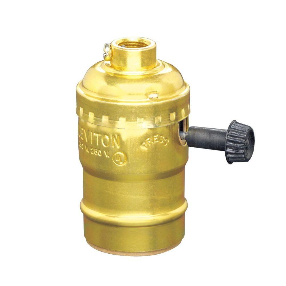 Turn-Knob Socket Lamp Holder