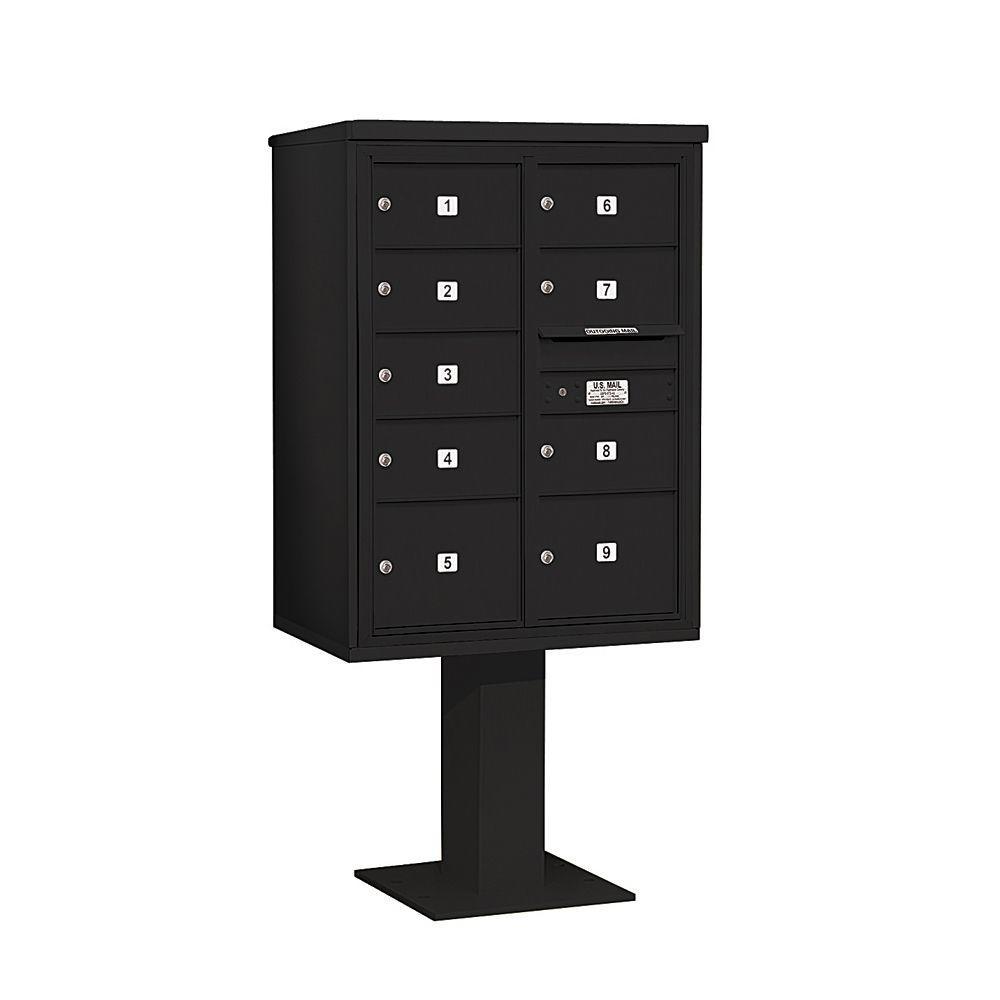 3400 Series 69-1/8 in. 11 Door High Unit Black 4C Pedestal