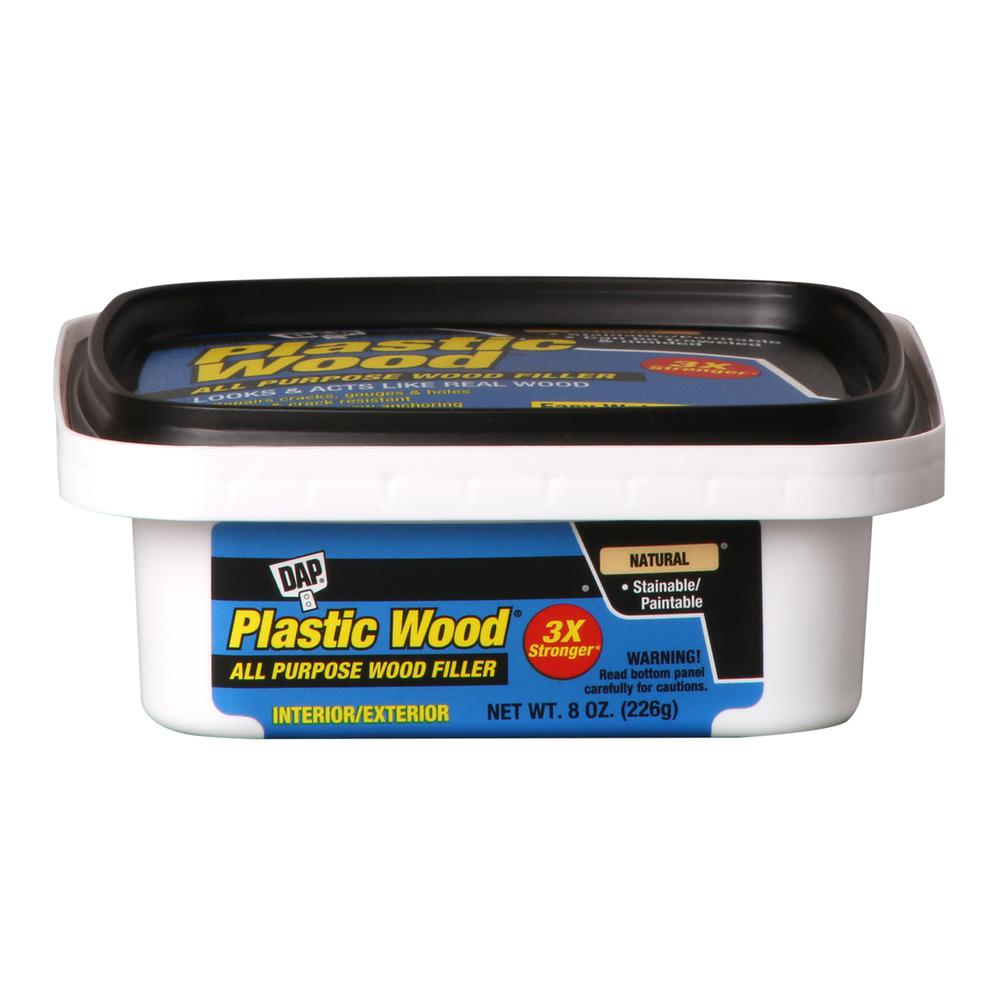 8 oz. Natural Plastic Wood Latex Wood Filler