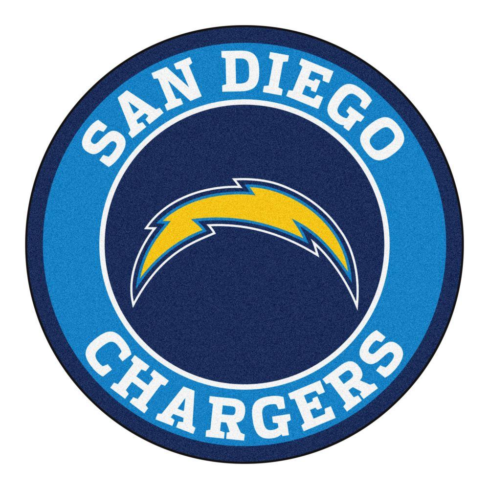 FANMATS NFL San Diego Chargers Blue 2 Ft. X 2 Ft. Round Area Rug