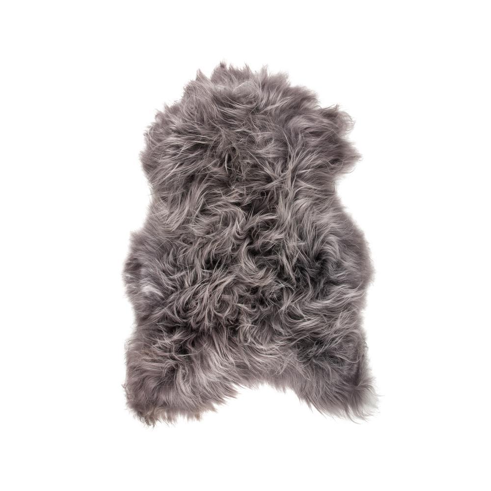 Icelandic Grey Brisa 2 ft. x 3 ft. Sheared Single Sheepskin Area Rug
