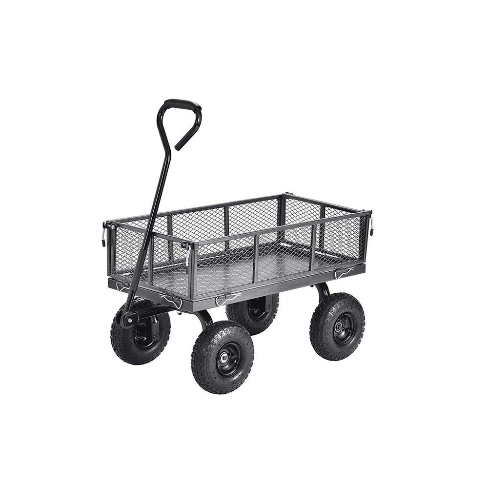Muscle Rack Carts 3 cu. 18 in W ft. Steel Garden Cart Wagon with Removable Sides, 400 lb. Capacity