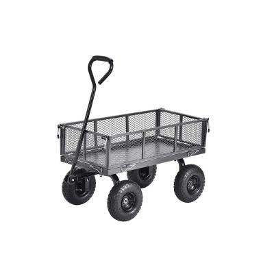 Carts 3 cu. 18 in W ft. Steel Garden Cart Wagon with Removable Sides, 400 lb. Capacity