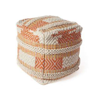 Sunset Oasis 18 in. x 18 in. Accent Pouf