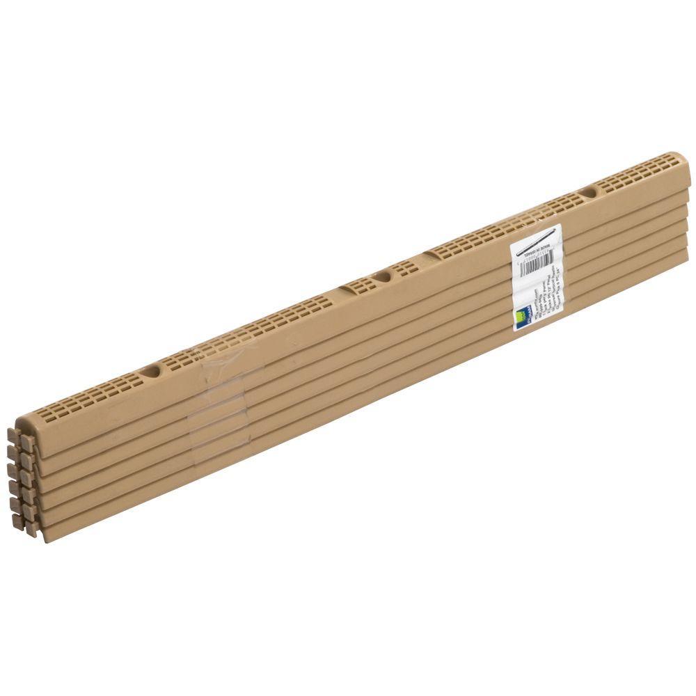 24 in. Universal Plastic Closure Strips (6-Pack)