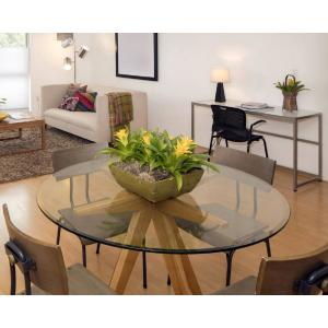 Delicieux Internet #304296776. Fab Glass And Mirror 36 In. Clear Round Glass Table Top  ...