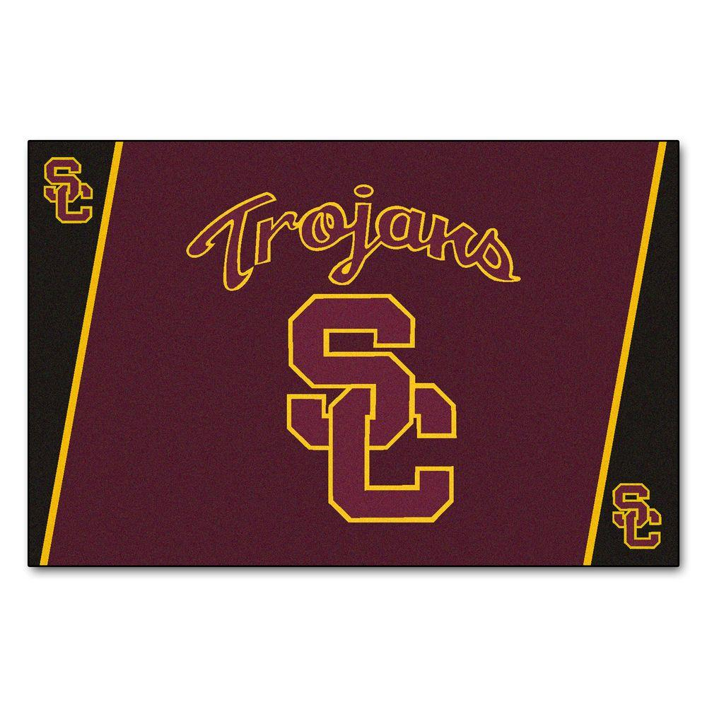 FANMATS University of Southern California 5 ft. x 8 ft. Area Rug