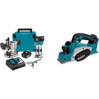 18-Volt LXT Brushless Cordless Compact Router Kit/Bonus 18-Volt LXT Cordless 3-1/4 in. Cordless Planer (Tool-Only)