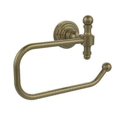 Retro Wave Collection European Style Single Post Toilet Paper Holder in Antique Brass