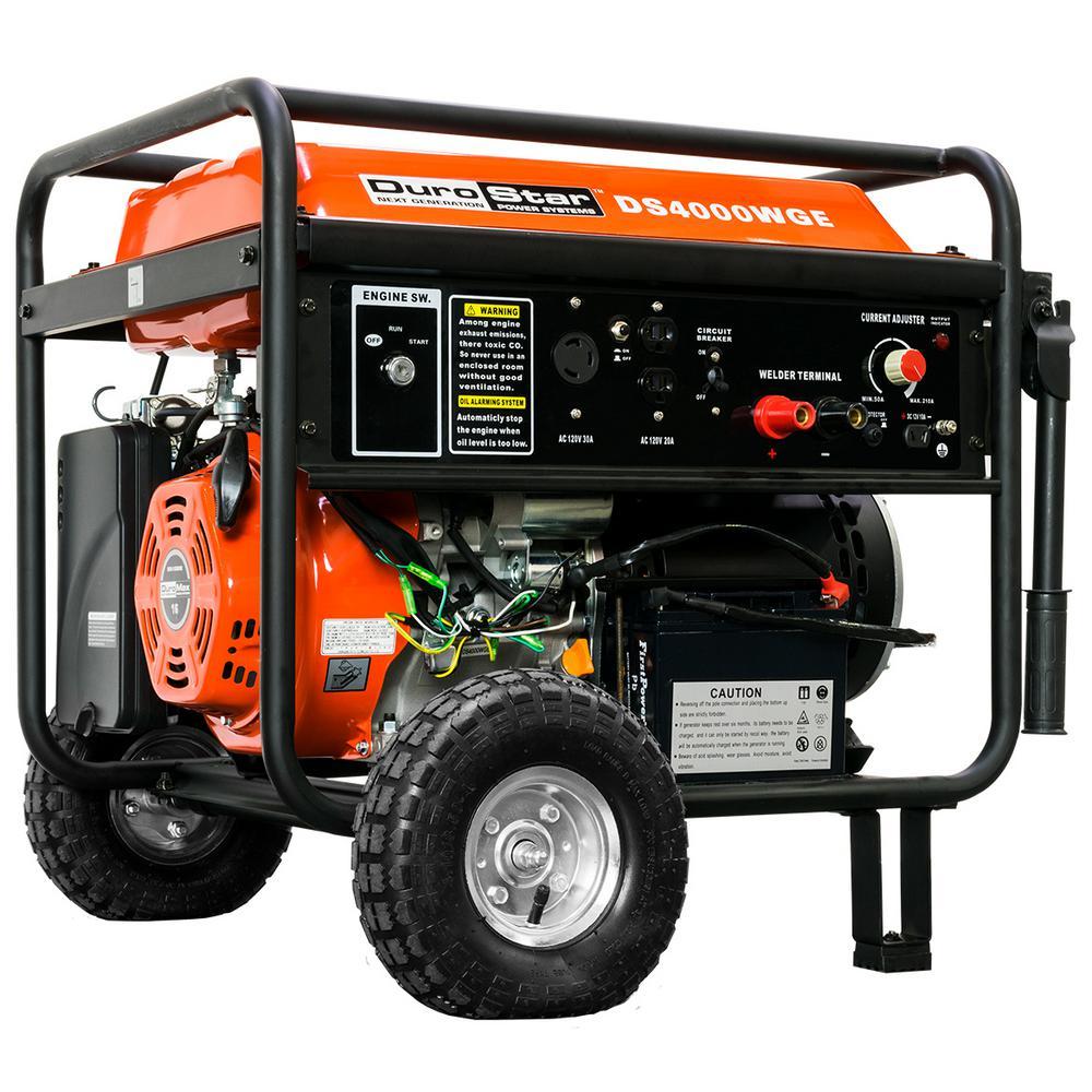 3,500-Watt 210 Amp Electric Start Gasoline Powered Portable Generator Welder