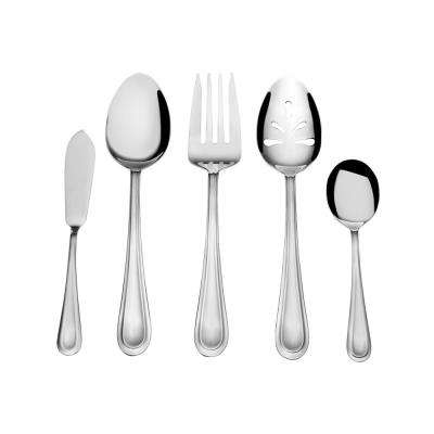 Forte 45-Piece 18/0 Stainless Steel Flatware Set with Caddy