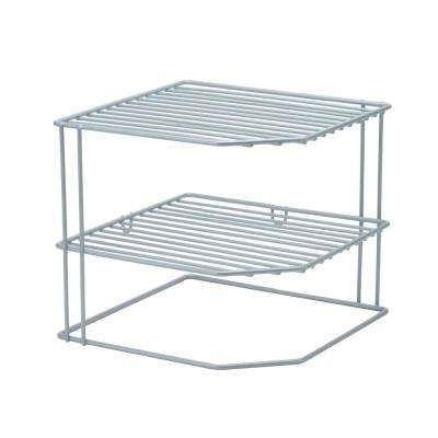 Corner Shelf Organizer in Grey