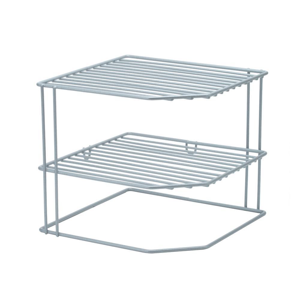 Kitchen Details Corner Shelf Organizer in Grey 24127-GREY