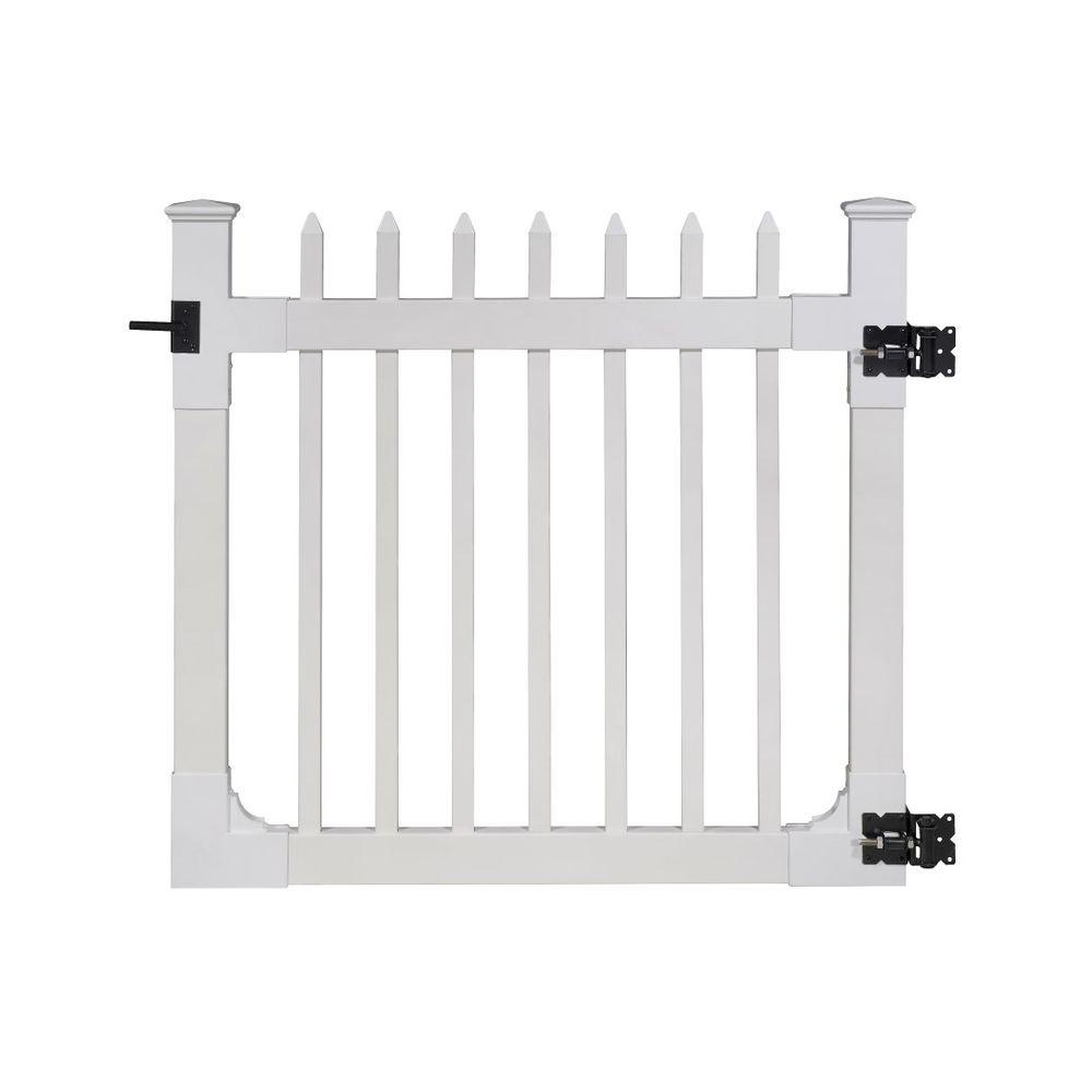 Wambam Fence 4 Ft X Nantucket Vinyl Picket Gate With Stainless