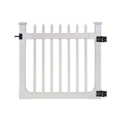 "Nantucket Vinyl Picket Gate w/Stainless Steel Hardware (48"" H x 48"" W)"