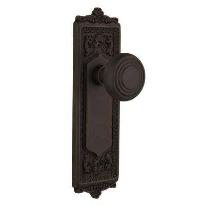 Egg And Dart Plate 2 3/8 In. Backset Oil Rubbed Bronze