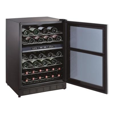 44 Bottle Dual Zone Wine Cooler in Stainless Steel
